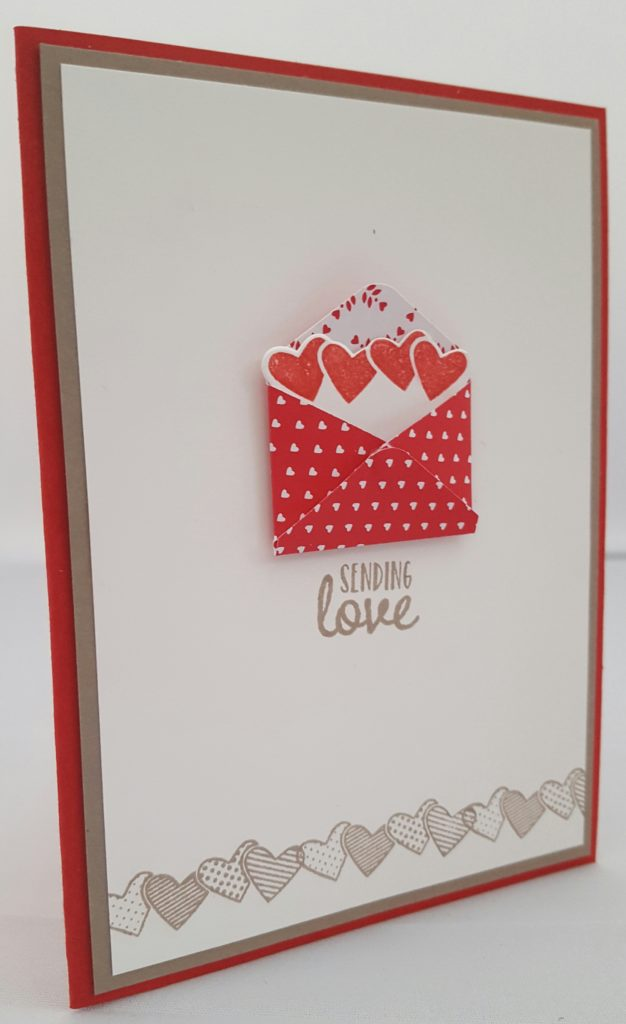 Stampin Up Sealed with Love Valentine Card