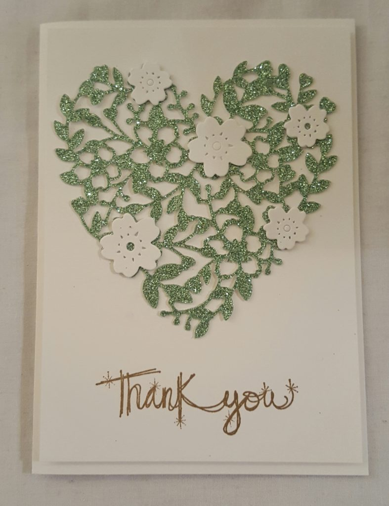 Stampin Up Bloomin Hearts Love Sparkles Glimmer