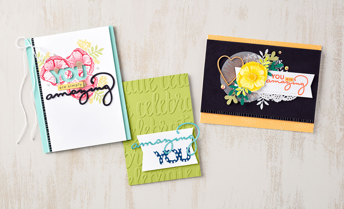 Saleabration Amazing You Stamp Set and Thinlits