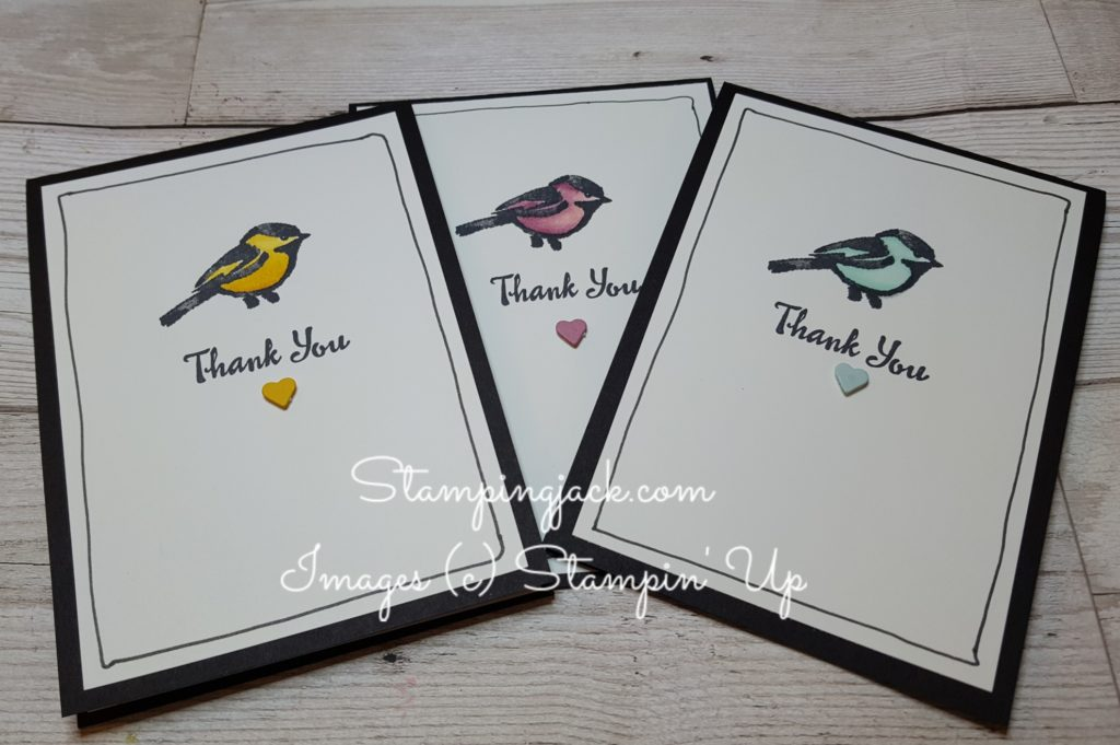 Stampin Up Petal Palette Quick and Easy Card
