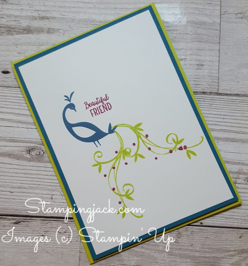 Stampin Up Beautiful Peacock Simple Card