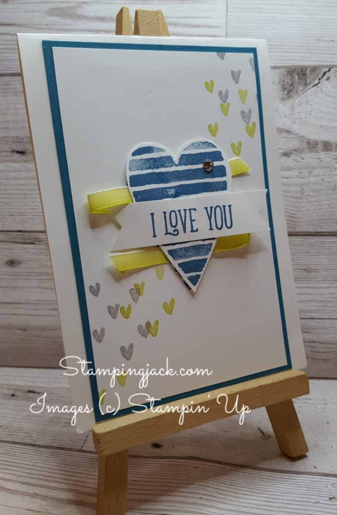 Stampin Up Heart Happiness Valentine Card
