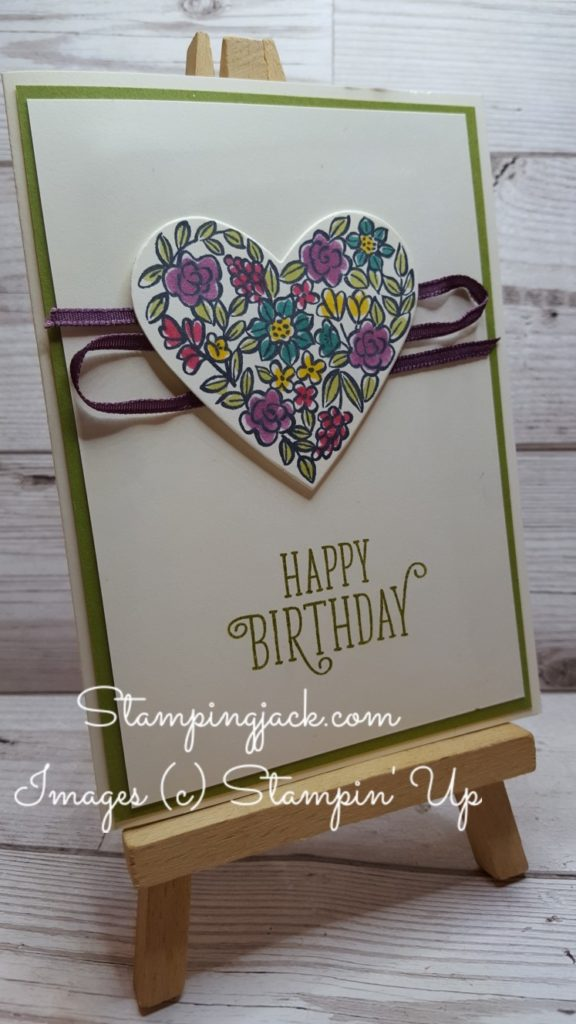 Stampin Up Heart Happiness Birthday Card