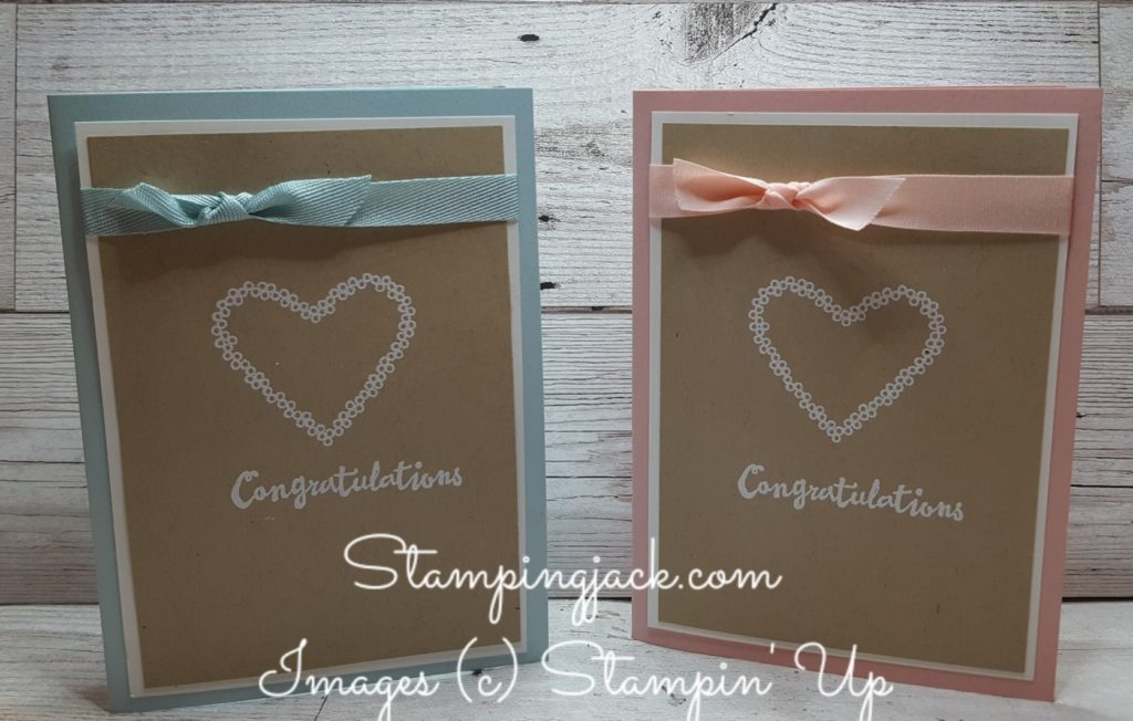 Stampin Up Heart Happiness Congratulations Card