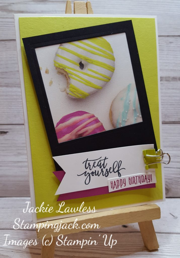 Stampin Up Picture Perfect Party Polariod Frame